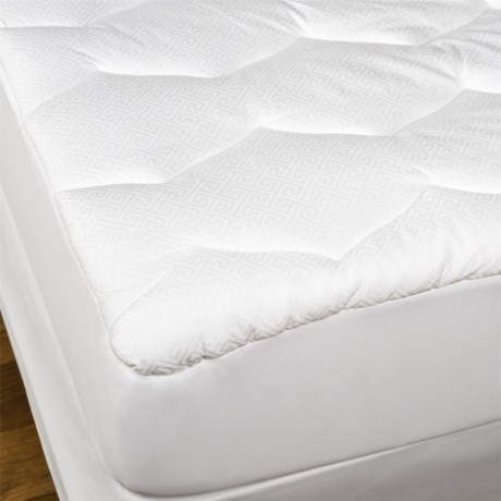 West Pacific Superior Loft Mattress Pad - King in White