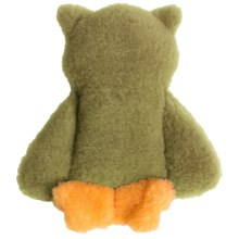 West Paw Design Eco Owl Dog Toy - Recycled Fabric in Green Tea - Closeouts