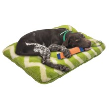 "West Paw Design Nature Nap Dog Bed - 32x22"" in Moss/Moss Chevron - Closeouts"