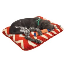 "West Paw Design Nature Nap Dog Bed - 32x22"" in Rust/Rust Chevron - Closeouts"