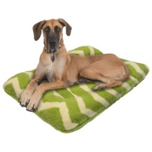 "West Paw Design Nature Nap Dog Bed - 40x27"" in Moss/Moss Chevron - Closeouts"