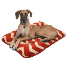 "West Paw Design Nature Nap Dog Bed - 40x27"" in Rust/Rust Chevron - Closeouts"