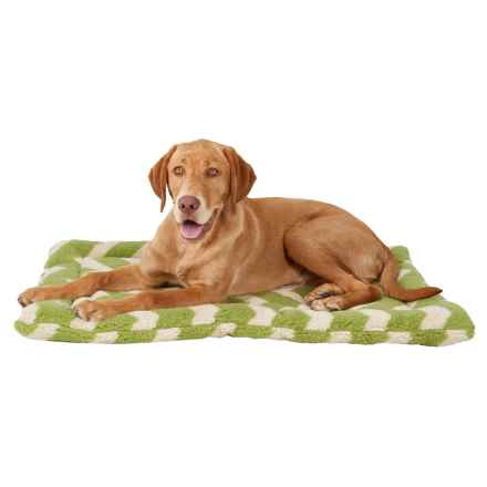 "West Paw Design Nature Nap Dog Crate Mat - Reversible, 23x34"" in Moss Chevron - Closeouts"