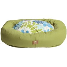 West Paw Designs Bumper Bed - Large, Cotton Cover in Jungle/Blue Floral - Closeouts