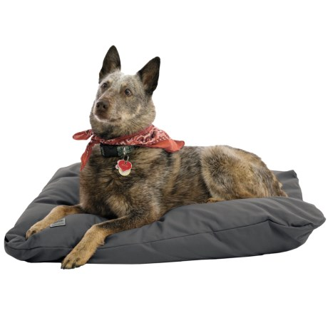 """West Paw Designs Pillow Dog Bed - 31x24"""", Large in Slate"""
