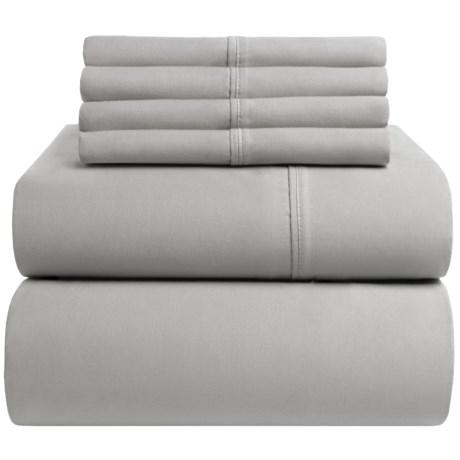 Westbury Home Cotton Sateen Sheet Set - Queen, 400 TC in Grey