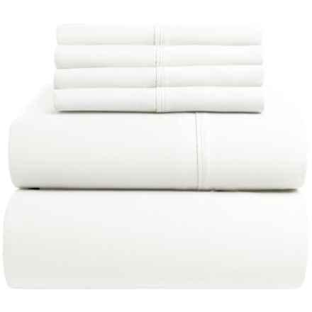 Westbury Home Cotton Sateen Sheet Set - Queen, 400 TC in White - Closeouts