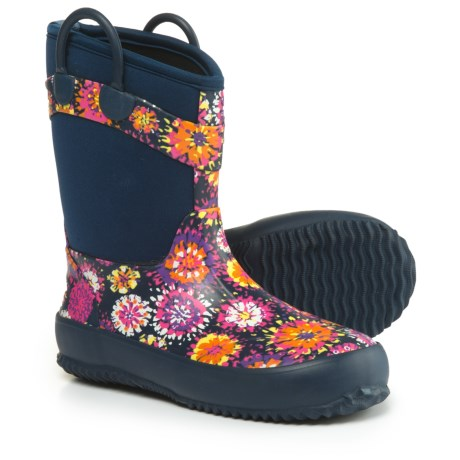 Western Chief Abstract Blooms Rain Boots - Waterproof (For Girls) in Navy
