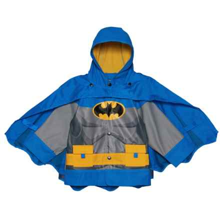 Western Chief Batman Gotham Knight Hooded Rain Jacket with Snap-Off Cape (For Toddler and Little Boys) in Blue - Closeouts