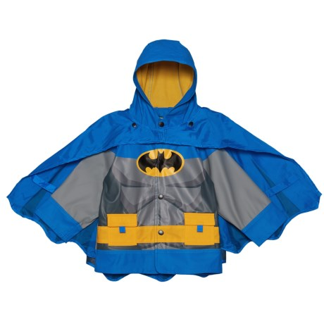 Western Chief Batman Gotham Knight Hooded Rain Jacket with Snap-Off Cape (For Toddler and Little Boys) in Blue