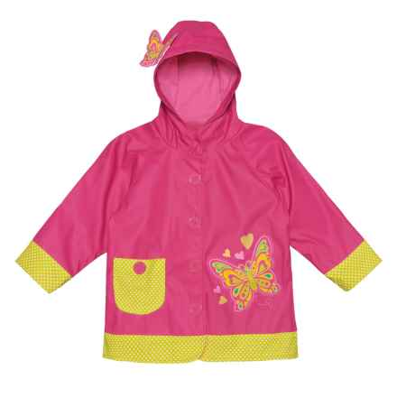 Western Chief Butterfly Star Rain Jacket (For Toddler and Little Girls) in Pink - Closeouts