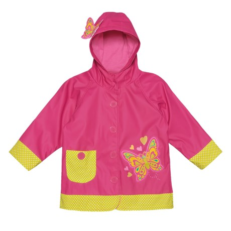 Western Chief Butterfly Star Rain Jacket (For Toddler and Little Girls) in Pink