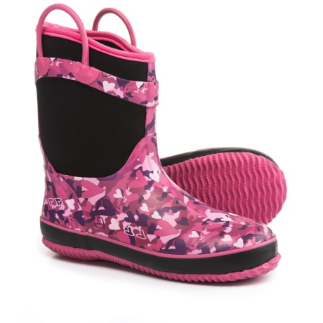 Western Chief Camo Neoprene Rain Boots - Waterproof (For Little and Big Girls) in Pink/Camo