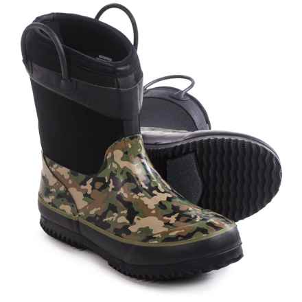 Western Chief Camo Neoprene Rain Boots - Waterproof (For Little Kids) in Olive Green - Closeouts