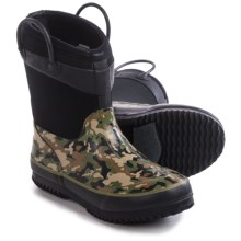 Western Chief Camo Neoprene Rain Boots - Waterproof (For Toddlers) in Olive Green - Closeouts