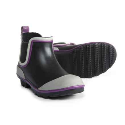 Western Chief Classic Twin Gore Rain Boot - Waterproof (For Girls) in Black/Purple - Closeouts