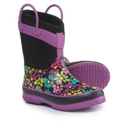 Western Chief Daisy Shower Rain Boots - Waterproof (For Girls) in Black - Closeouts