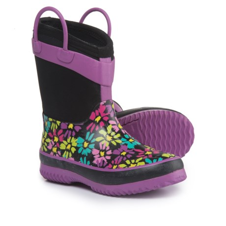 Western Chief Daisy Shower Rain Boots - Waterproof (For Girls) in Black