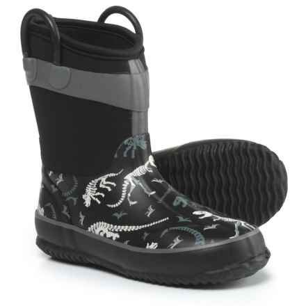 Western Chief Dino Fossils Rain Boots - Waterproof (For Boys) in Black - Closeouts
