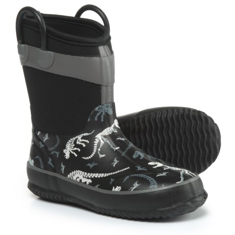 Western Chief Dino Fossils Rain Boots - Waterproof (For Boys) in Black