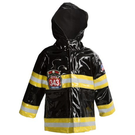 Western Chief F.D.U.S.A. Raincoat - Light-Up, Hooded (For Toddlers) in Black