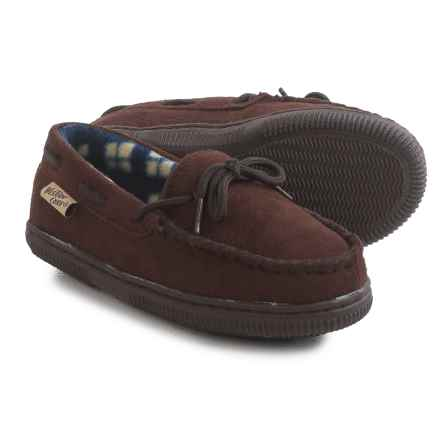 Western Chief Moc Slippers (For Little Kids) in Chocolate - Closeouts