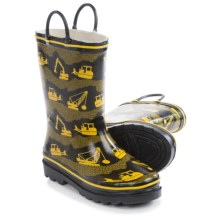 Western Chief Pattern Rain Boots - Waterproof (For Little Kids) in Construction Site/Black - Closeouts