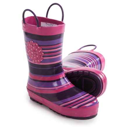 Western Chief Pattern Rain Boots - Waterproof (For Little Kids) in Olivia/Purple - Closeouts