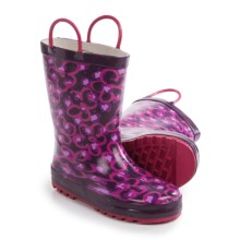 Western Chief Pattern Rain Boots - Waterproof (For Toddlers) in Diva Leopard/Purple - Closeouts