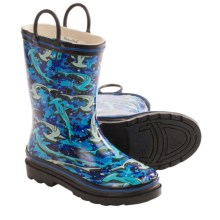 Western Chief Pattern Rain Boots - Waterproof (For Toddlers) in Hammerhead Sharks - Closeouts