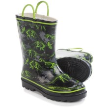 Western Chief Pattern Rain Boots - Waterproof (For Toddlers) in Jurassic Dig/Black - Closeouts
