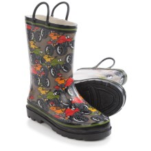 Western Chief Pattern Rain Boots - Waterproof (For Toddlers) in Off Road Terrain/Taupe - Closeouts
