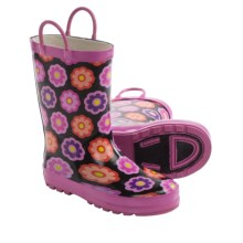 Western Chief Printed Rain Boots - Waterproof (For Toddlers) in Flower Dot - Closeouts