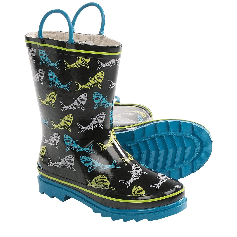 Outee Toddler Kids Boys Girls Lightweight Rain Boots baby Junior Red/Black/Blue.