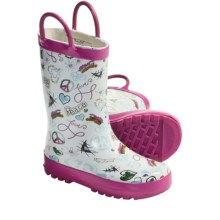 Western Chief Rain Boots (For Kids and Youth) in Homeroom Pink - Closeouts