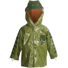 Western Chief Raincoat - Button-Up (For Toddlers and Little Kids) in Dinosaur Olive Green - Closeouts