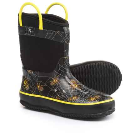 Western Chief Spider Prey Neoprene Rain Boots (For Little and Big Boys) in Black - Closeouts