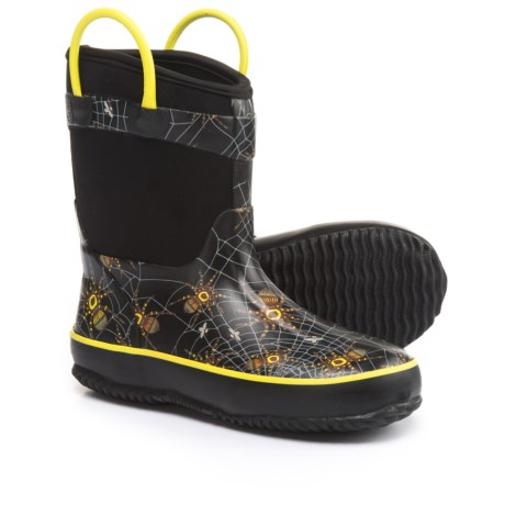Western Chief Spider Prey Neoprene Rain Boots (For Little and Big Boys) in Black