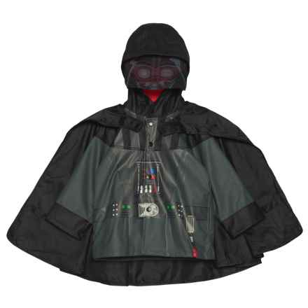 Western Chief Star Wars Darth Vader Hooded Rain Jacket with Snap-Off Cape (For Toddler and Little Boys) in Charcoal - Closeouts