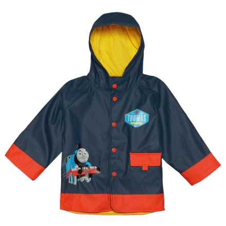 Western Chief Thomas Blue Engine Rain Jacket (For Toddler and Little Boys) in Navy - Closeouts