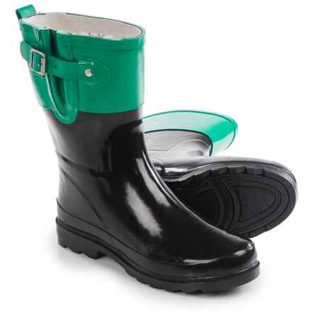 Western Chief Top Pop Mid Rain Boots - Waterproof (For Women) in Black - Closeouts