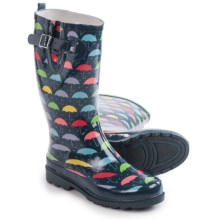 Western Chief Umbrella Days Rain Boots - Waterproof (For Women) in Navy - Closeouts