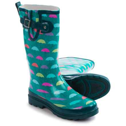 Western Chief Umbrella Days Rain Boots - Waterproof (For Women) in Turquoise - Closeouts