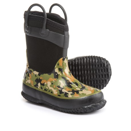 Western Chief Wilderness Camo Neoprene Rain Boots (For Little and Big Boys) in Olive/Camo