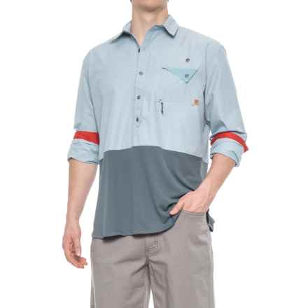 Western Rise Pioneer Popover Shirt - UPF 30+, Long Sleeve (For Men) in Riffle Blue - Closeouts