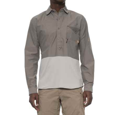 Western Rise Pioneer Popover Shirt - UPF 30+, Long Sleeve (For Men) in Slate Grey - Closeouts