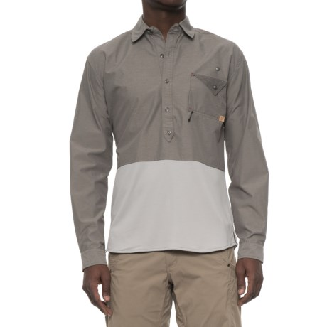 Western Rise Pioneer Popover Shirt - UPF 30+, Long Sleeve (For Men) in Slate Grey