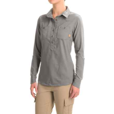 Western Rise Tomboy Shirt - UPF 30+, Long Sleeve (For Women) in Grey - Closeouts