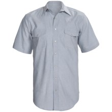 Western Snap-Front Shirt - Short Sleeve (For Big and Tall Men) in Light Blue - 2nds