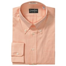 Westport Dress Shirt - Button Down, Long Sleeve (For Big and Tall Men) in Melon - Closeouts